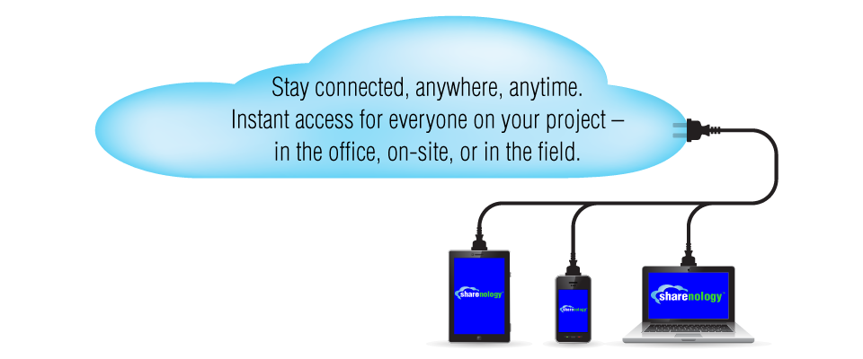 Project management cloud based software staying connected